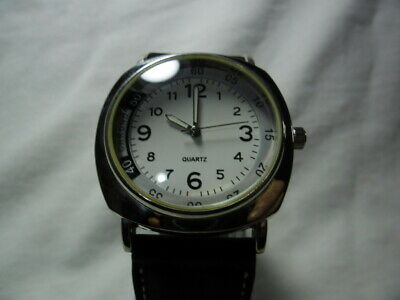 Gents Quartz Watch New Strap New 3 Year Swiss Made Renata Battery