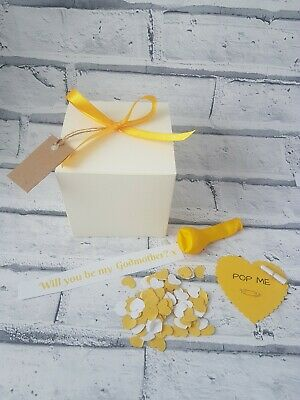 Will you be my Godmother,  Pop the balloon christening, personalised keepsake,