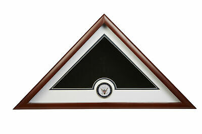 Allied Flag US Flag Display Case with Navy Medallion