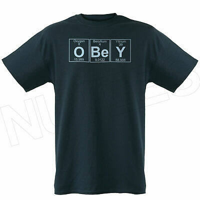 Periodic Elements Obey Funny Mens Ladies Kid T-Shirts Vest S-XXL