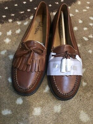 1adae235114 COLE HAAN MENS Dwight Saddle Brown Kiltie Tassel Loafers C01063 Size ...