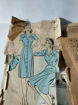 Vintage advance sewing patterns