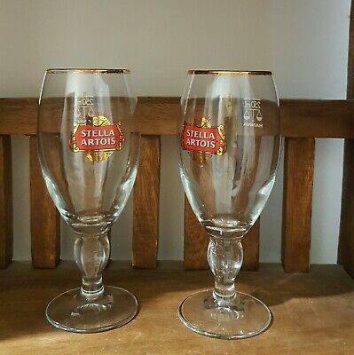 Stella Artois Beer 250ml Glasses x 1 or 2 great replacements for your set (used)