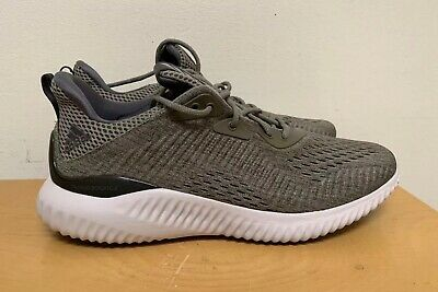 b87e2c69d30d1 ADIDAS ALPHABOUNCE EM M Men s Running Shoes  Olive Gray BW1203 NEW ...