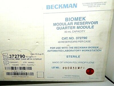 Beckman Coulter Biomek modular reservoir, quarter module, 40 ml, 372790-#790X