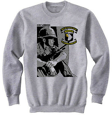 """101ST AIRBORNE DIVISION /""""SCREAMING EAGLES/""""CAMPAIGN LEFT CHEST ZIPPER HOODIE"""