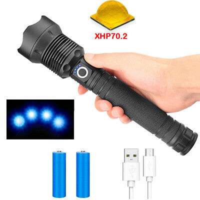 50000 lumen Lamp xhp70 Flashlight usb Zoom LED Torch For Outdoor Camping Fishing