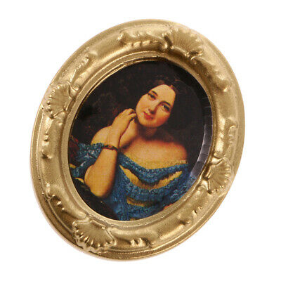 1:12 Scale Dollhouse Miniature Wall Decor ACCS Framed Lady Picture Photo