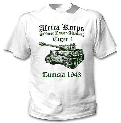 Tiger Panzer I Africa Korps Wwii - New White Cotton T-Shirt