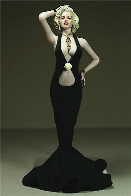 """1/6 Black Dress Necklace Clothing F 12"""" TBLeague Phicen Big Bust Female Body Toy"""
