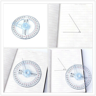 360 Degree Protractor Ruler Angle Plastic Finder Swing Arm School Office3.94*3.9