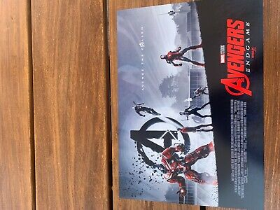 "AVENGERS ENDGAME WEEK 1 AMC IMAX MINI POSTER 11"" x 15.5 "" BRAND NEW RARE"