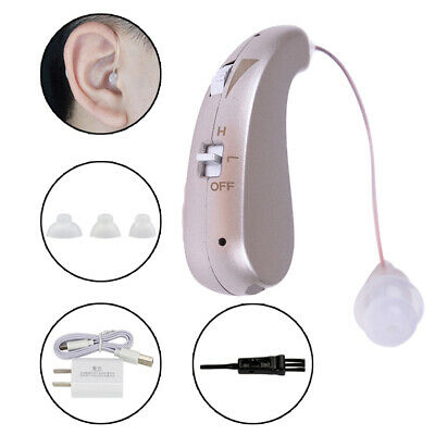Rechargeable Digital Hearing Aid Severe Loss Invisible Ear Aids High-Power