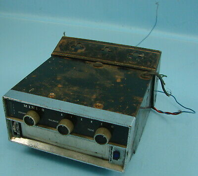 Vtg Early Mini-8 Car Truck Stereo Lear 8-Track Tape Cartridge Player P&R