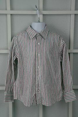 Childrens Place Boys Button Up Dress Shirt Size 4 4T XS Long Sleeve Striped