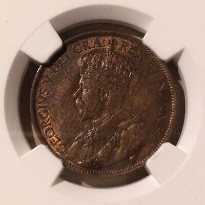 1914 CANADA 1 CENT NGC MS 63 BN - Large Cent