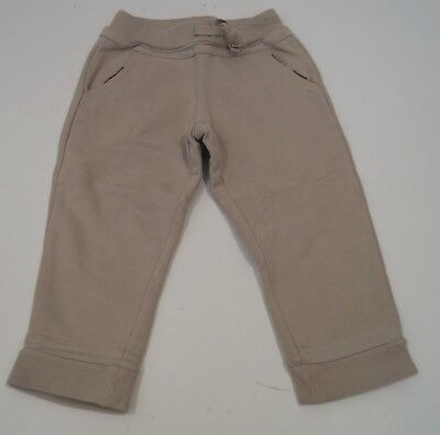 BURBERRY Baby Toddler Boy's Beige 100% Cotton Jersey Casual Trousers Pants 2Y