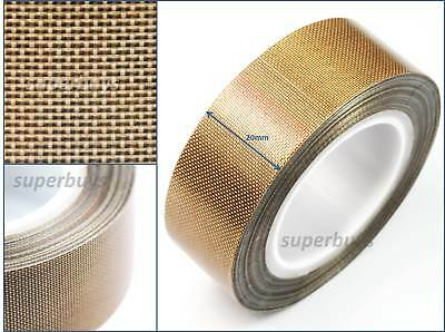 20mm x 10m PTFE Tape Adhesive Low Friction Nonstick Non Anti Stick Woven