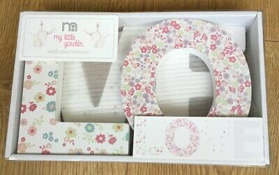 Mothercare My Little Garden  ** LOVE ** Letters  ** Brand New **