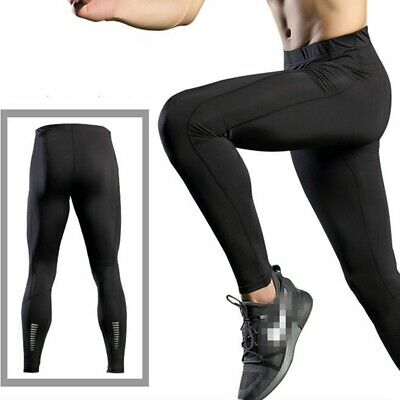 Men's Compression Sports Pants Gym Running Basketball Training Tights Plus Size