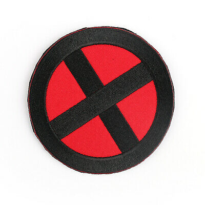 "Marvel Comics X-Men Wolverine Movie Shoulder X 3.5"" Embroidered Patch Badge BK Z"