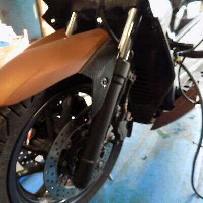 2016 Yamaha X-Max 400 front fork legs. No corrosion. Only 6996klms tested.
