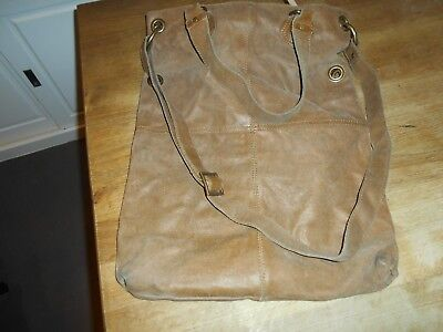 Vintage Tres La Active Sac Grand Marron Hippie Cuir Wear