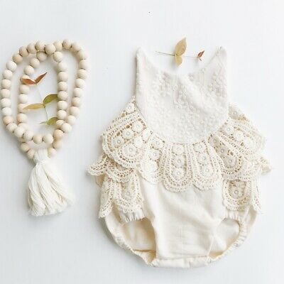 AU Newborn Infant Baby Girl Clothes Sleeveless Romper Jumpsuit One Piece Outfit