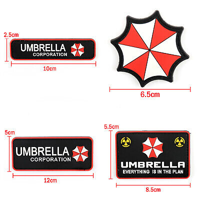 Resident Evil Umbrella Corporation 3D Pvc Army Morale Chest Rubber Hook Patch T2