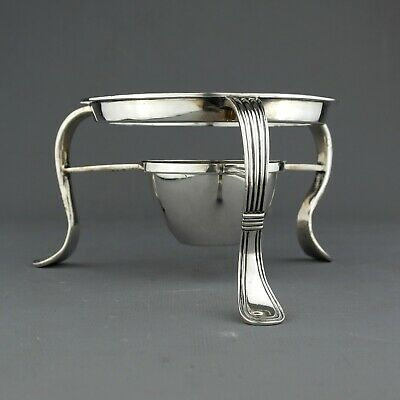 Antique Georgian Solid Sterling Silver Teapot / Kettle Stand, London, 1811