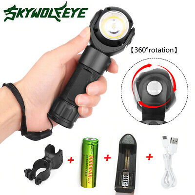 150000LM Tactical XM-L T6+ COB LED Torch Flashlight with Magnet + 18650 Battery