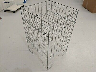 Wire mesh parts bin / grid wall display basket for retail