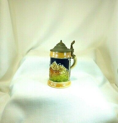 Deceased Estate Antique Western Germany Lidded Beer Stein