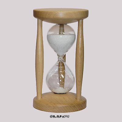 HOURGLASS EGG TIMER Hourglasses Beech Stained 10 Minutes - $36 13