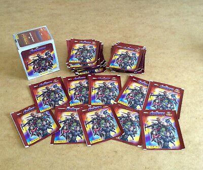 10 Packets Packs of Road to Avengers Endgame Stickers PANINI