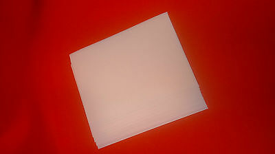 20 A4 white foam sheets- Plain 1mm thick