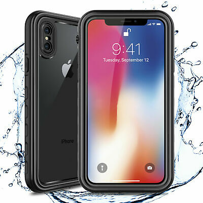 For Apple iPhone XS X IP68 Waterproof Case Cover Fre Built-in Screen Protector