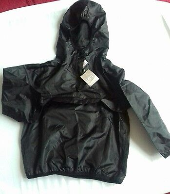 BNWT Next age 3 boys black waterproof lightweight raincoat. FAST POSTAGE