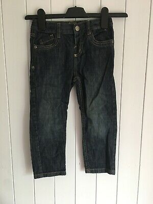 Boys trousers size 3-4 years blue straight jeans adjustable waist Denim & Co