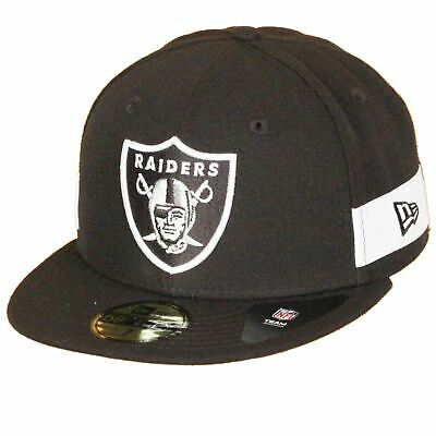 new concept 8f744 ef5f5 New Era 59FIFTY NFL Oakland Raiders Side Block Patch Logo Black Hat Fitted  Cap