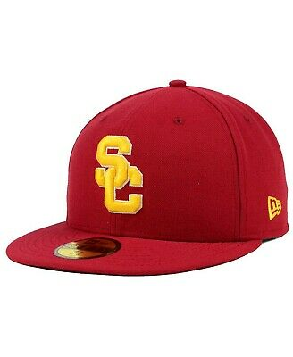 the latest 48eb1 0d6ee New Era 59Fifty Men s Cardinal Red USC Trojans Fitted Cap