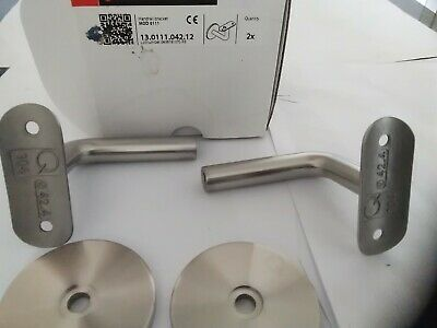 4 x HANDRAIL  BRACKETS FOR WALL MOUNTING S/STEEL 304 D: 42.4 mm   - FREE POSTAGE