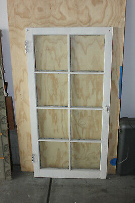 Antique Salvage Architectural 8 Pane Glass and Wooden Window