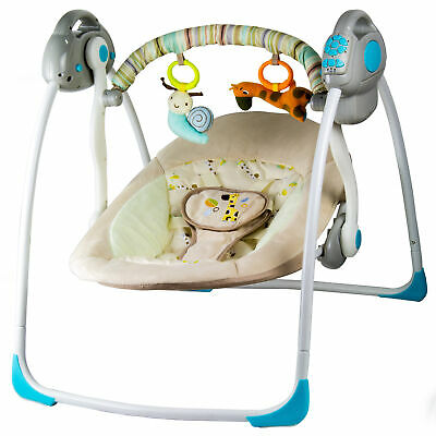 Electric Baby Cradle Swing Function Melodies Baby Bouncer Automatic