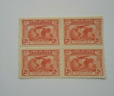 Australia 1931 Kingsford Smith 2d block of 4 mint