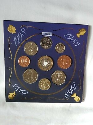 The 1998 United Kingdom Brilliant Uncirculated Coin Collection Royal Mint 1998