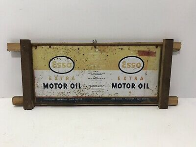 Vintage Esso Extra Motor Oil Quart Metal Oil Can Handmade Display Sign