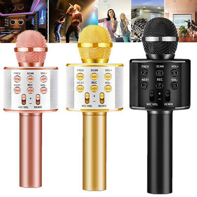 Handheld Wireless Bluetooth Karaoke WS-858 Microphone USB KTV Player MIC Speaker