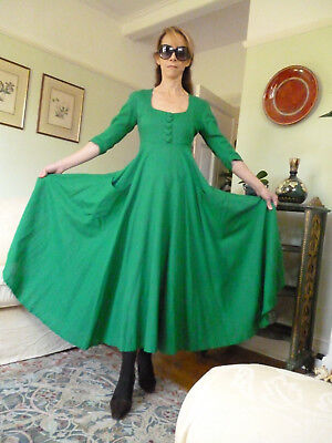 WOW Vintage Angela Holmes Droopy & Brown green dress 8