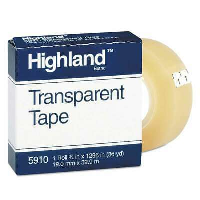 """26E Lot of 24 Rolls of Highland 5910 Transparent Tape 3//4/"""" x 1296/"""""""